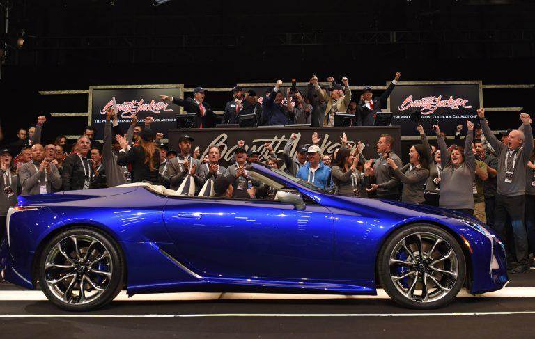 Unique Lexus LC 500 convertible raises $2 Million for charity at Barrett-Jackson