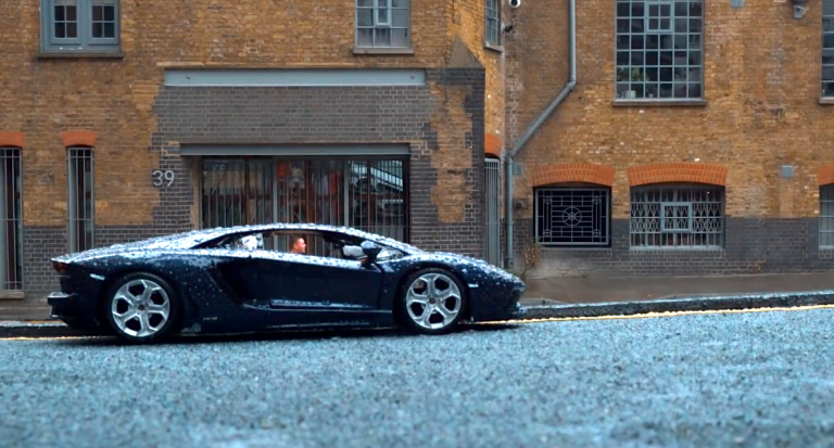 Video director convinces Instagram this plastic toy car is his real lamborghini