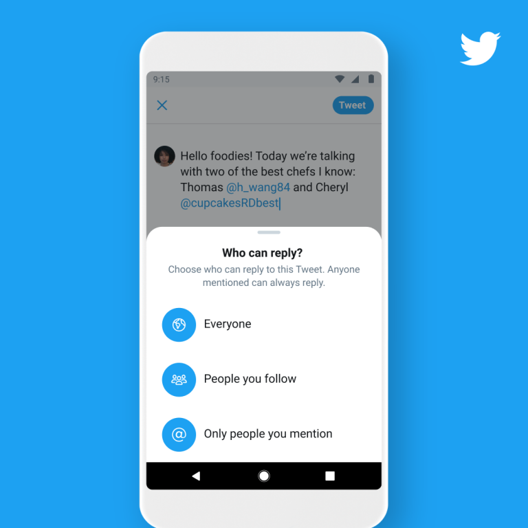 Twitter is working on a new feature that helps you limit who can reply to your tweets