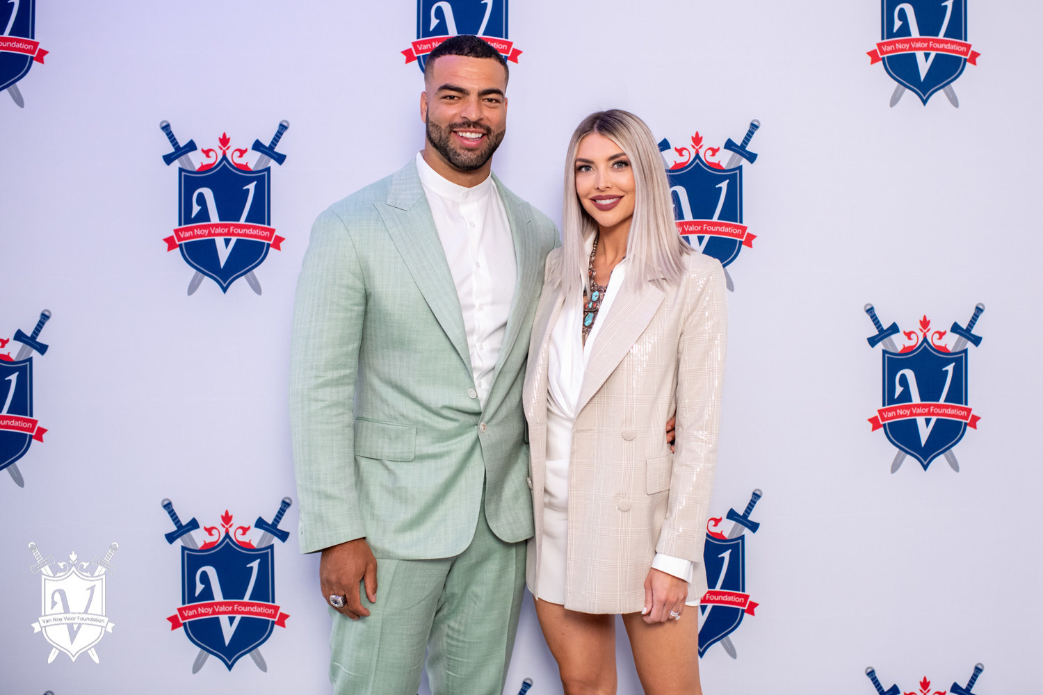 Kyle Van Noy of the New England Patriots and his wife, Marissa