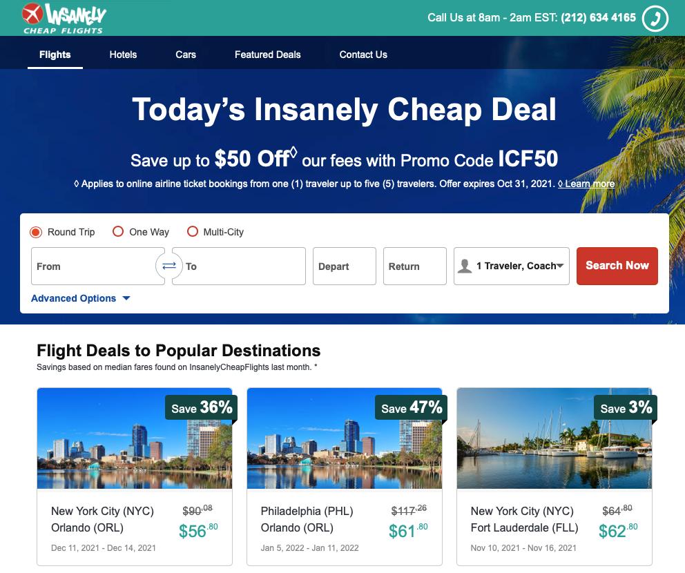 InsanelyCheapFlights-booking-website